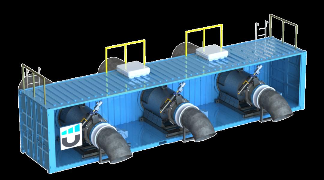 NuCONTAINER Triple Turbine Configuration